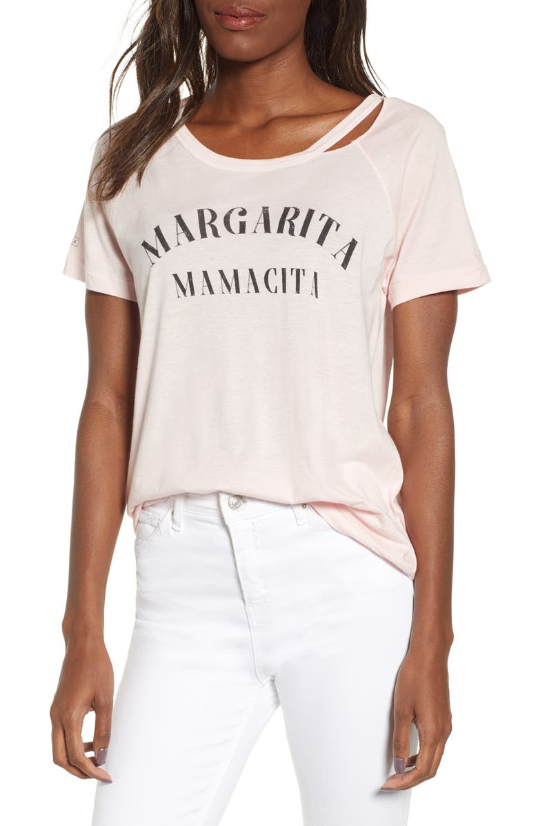 LIRA CLOTHING Margarita Mamacita Distressed Graphic Tee, Main, color, 650