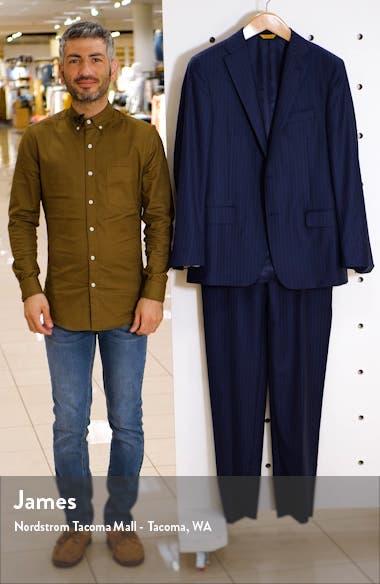 Classic B Fit Stripe Wool Suit, sales video thumbnail