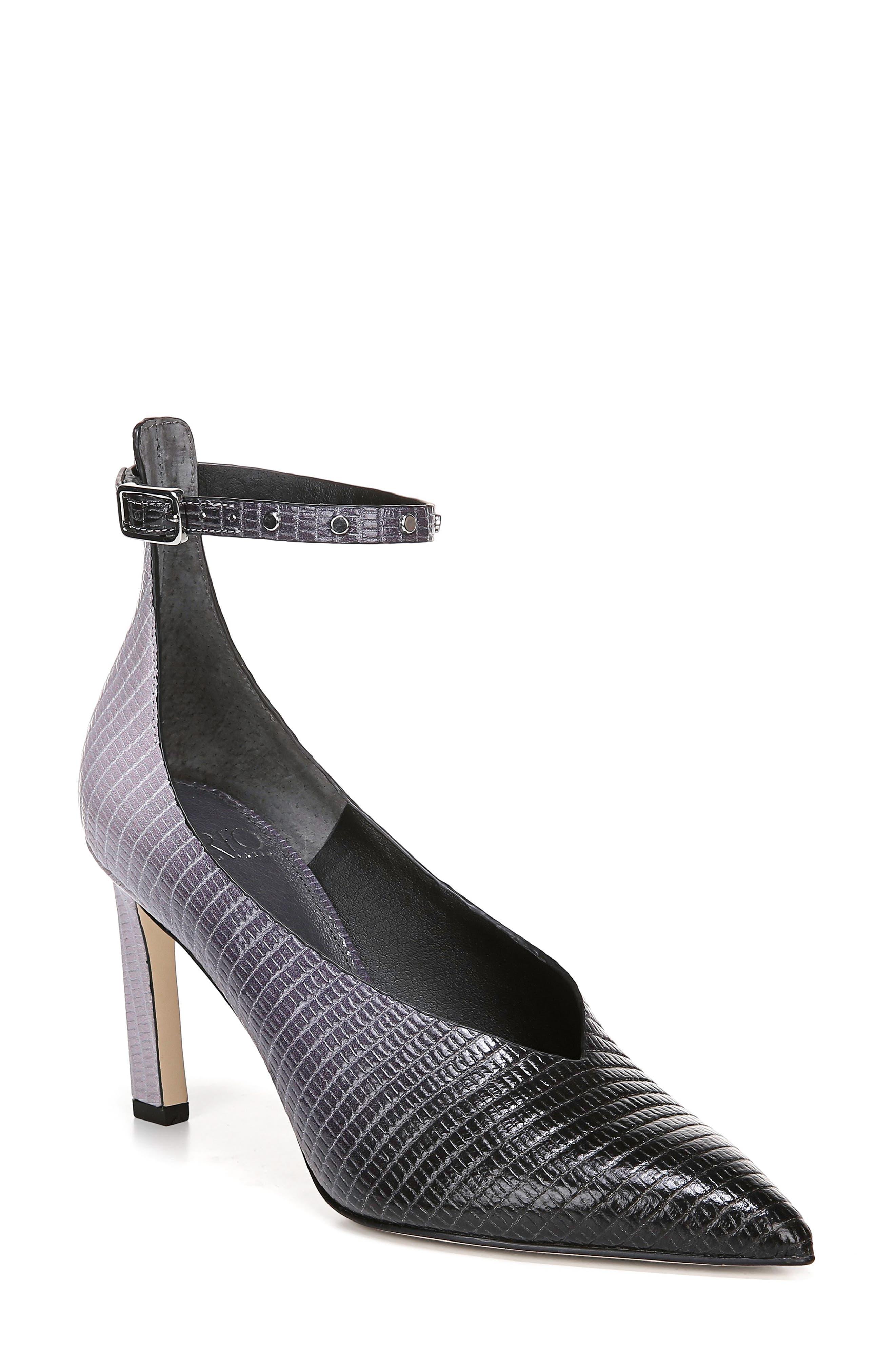 Sarto By Franco Sarto Sarah Ankle Strap Pump, Grey