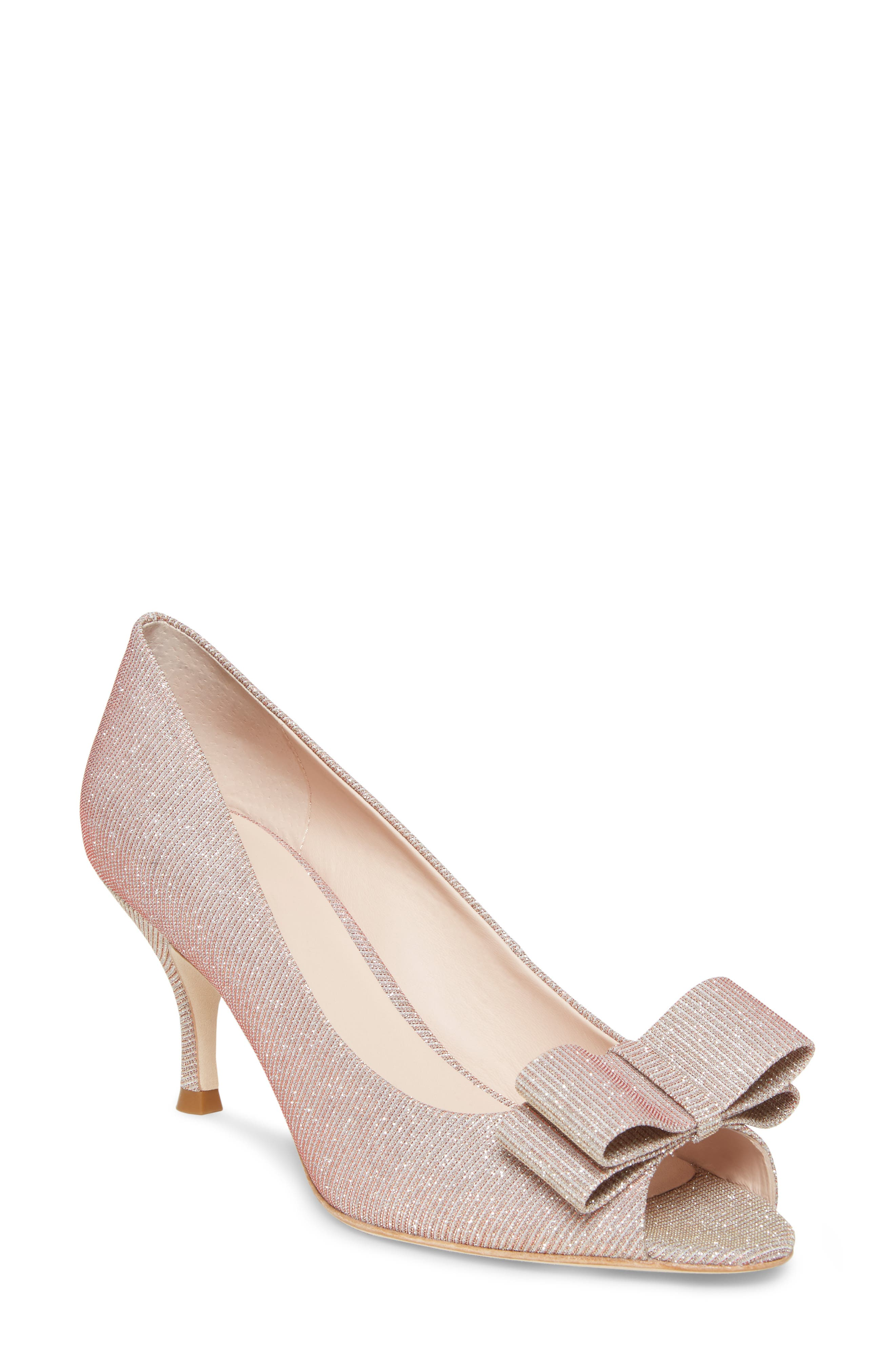 Kate Spade New York Cecelia Peep Toe Pump, Pink