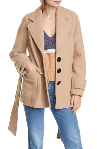 Veronica Beard Coats BJORN BELTED WOOL COAT