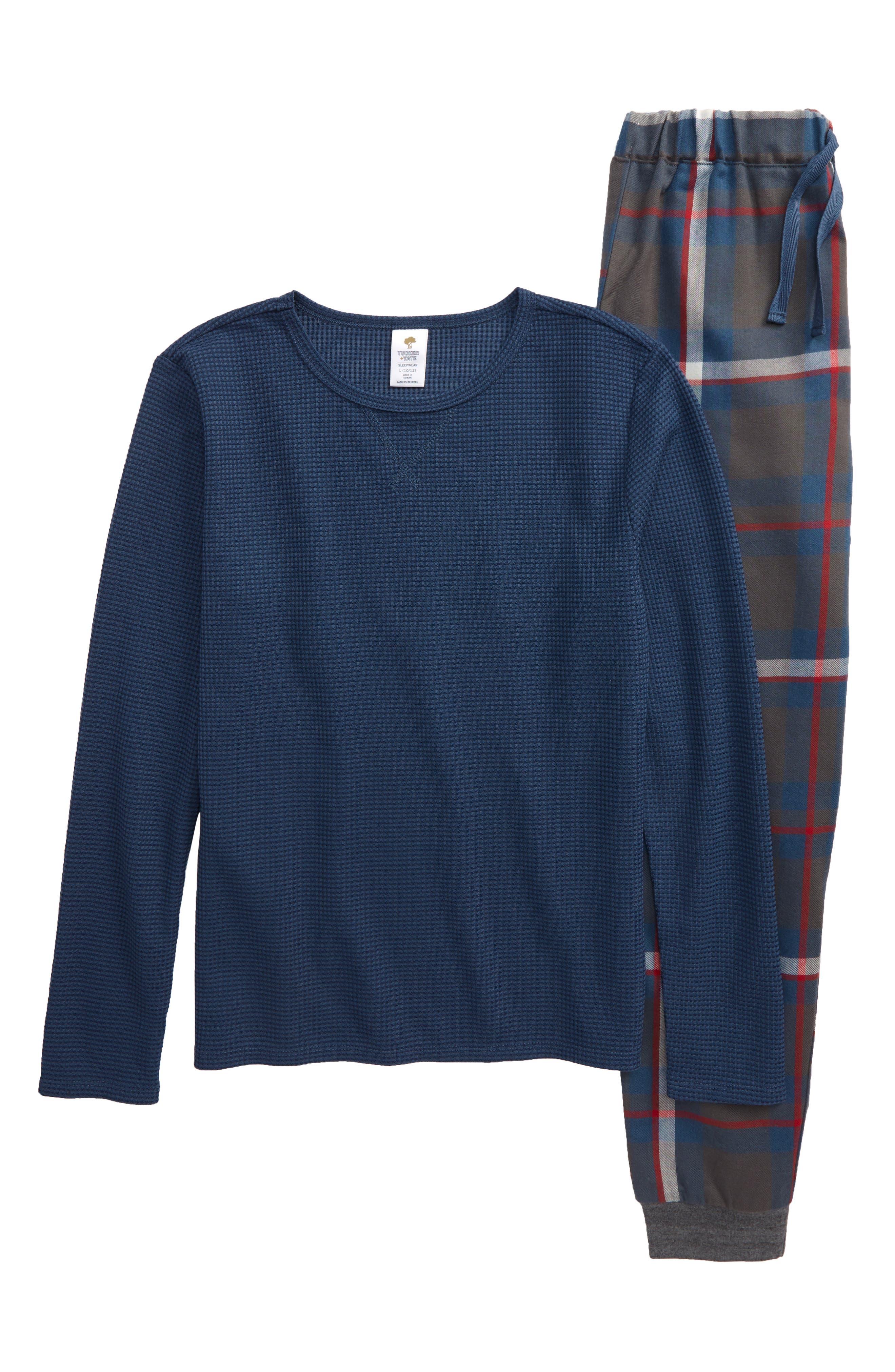 Boys Tucker  Tate TwoPiece Jogger Pajamas Size S (78)  Blue