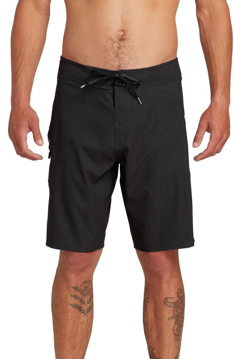 VOLCOM Deadly Stones 2.0 Board Shorts, Main, color, BLACK