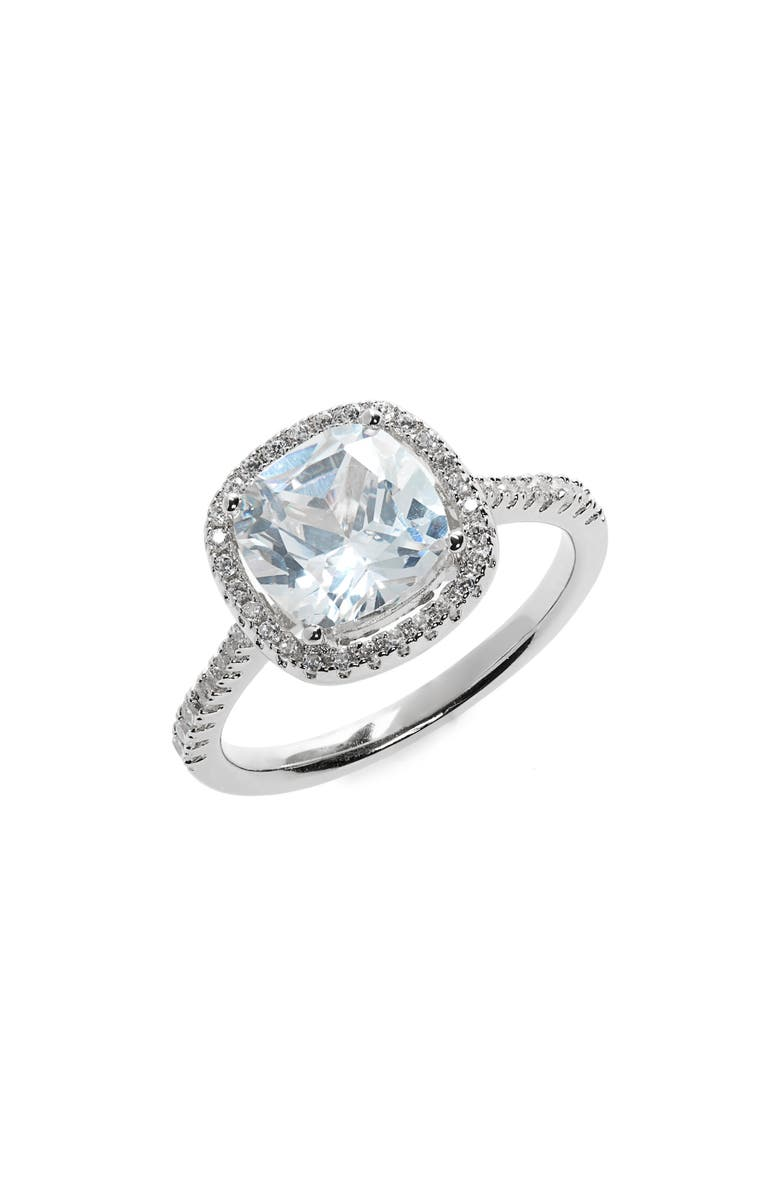 NORDSTROM Cushion Cut Solitaire Ring, Main, color, 040