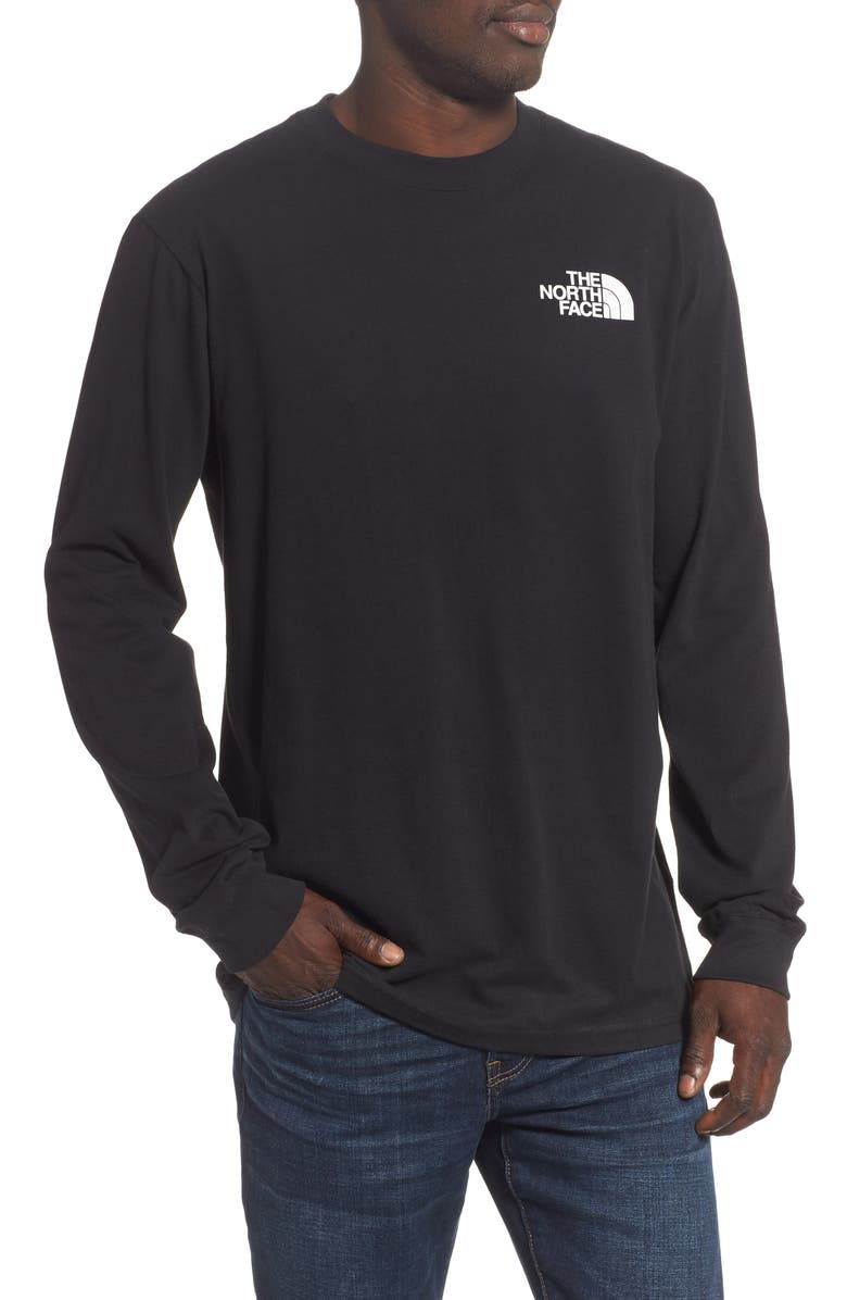 THE NORTH FACE Red Box Long Sleeve Crewneck T-Shirt, Main, color, TNF BLACK