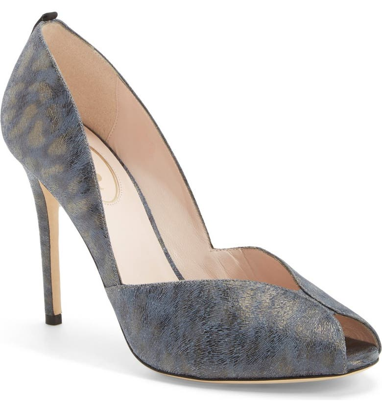 SJP BY SARAH JESSICA PARKER 'Naomi' Peep Toe Pump, Main, color, 400