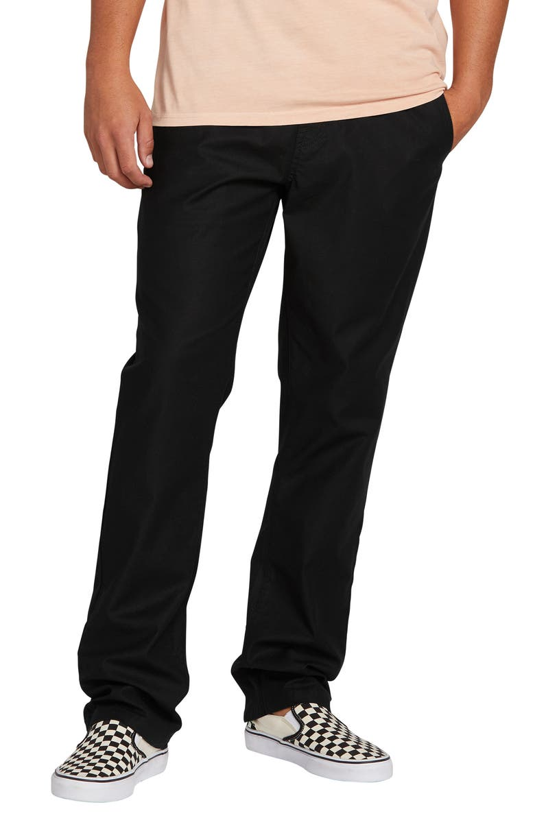 VOLCOM Riser Relaxed Fit Comfort Chinos, Main, color, 001