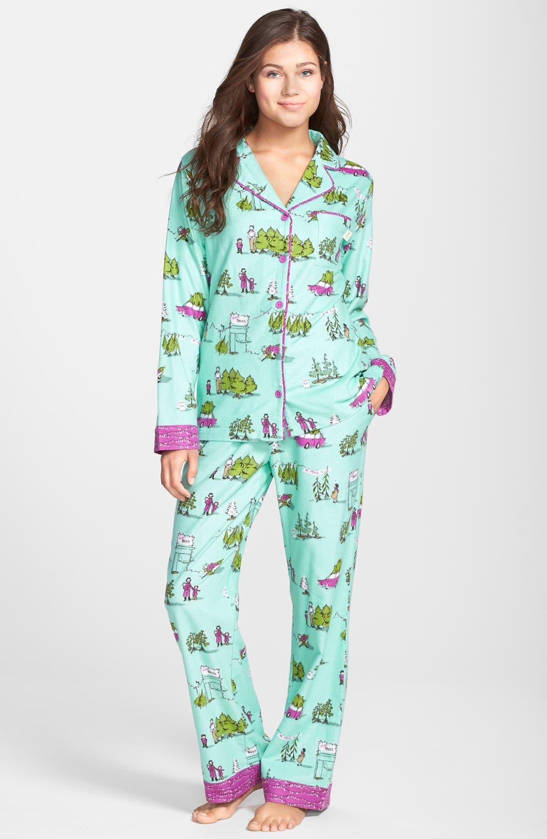 ,                             Flannel Pajamas,                             Main thumbnail 41, color,                             445