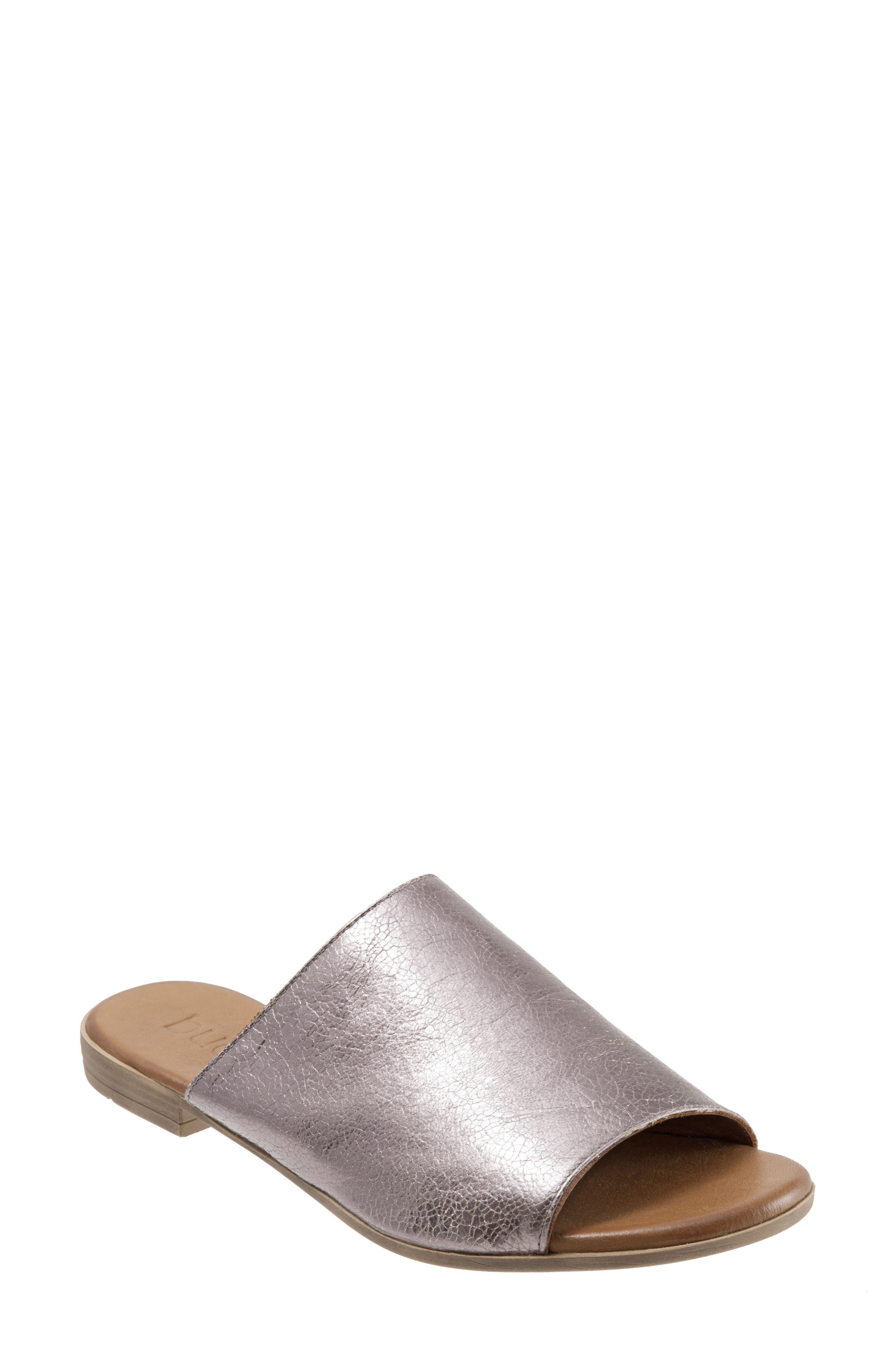 Bueno Jory Slide Sandal - Metallic