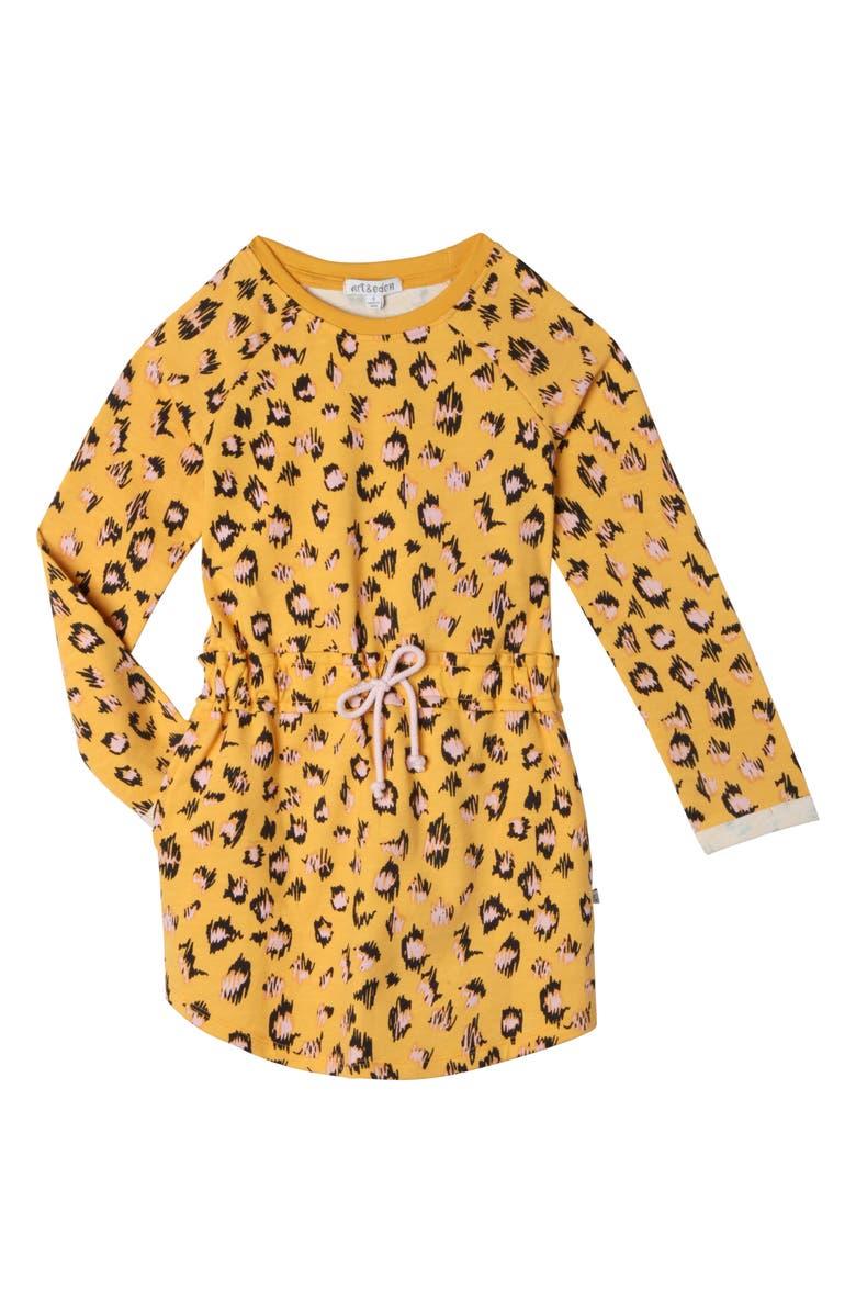 ART & EDEN Juniper Leopard Dress, Main, color, SCRIBBLE LEOPARD