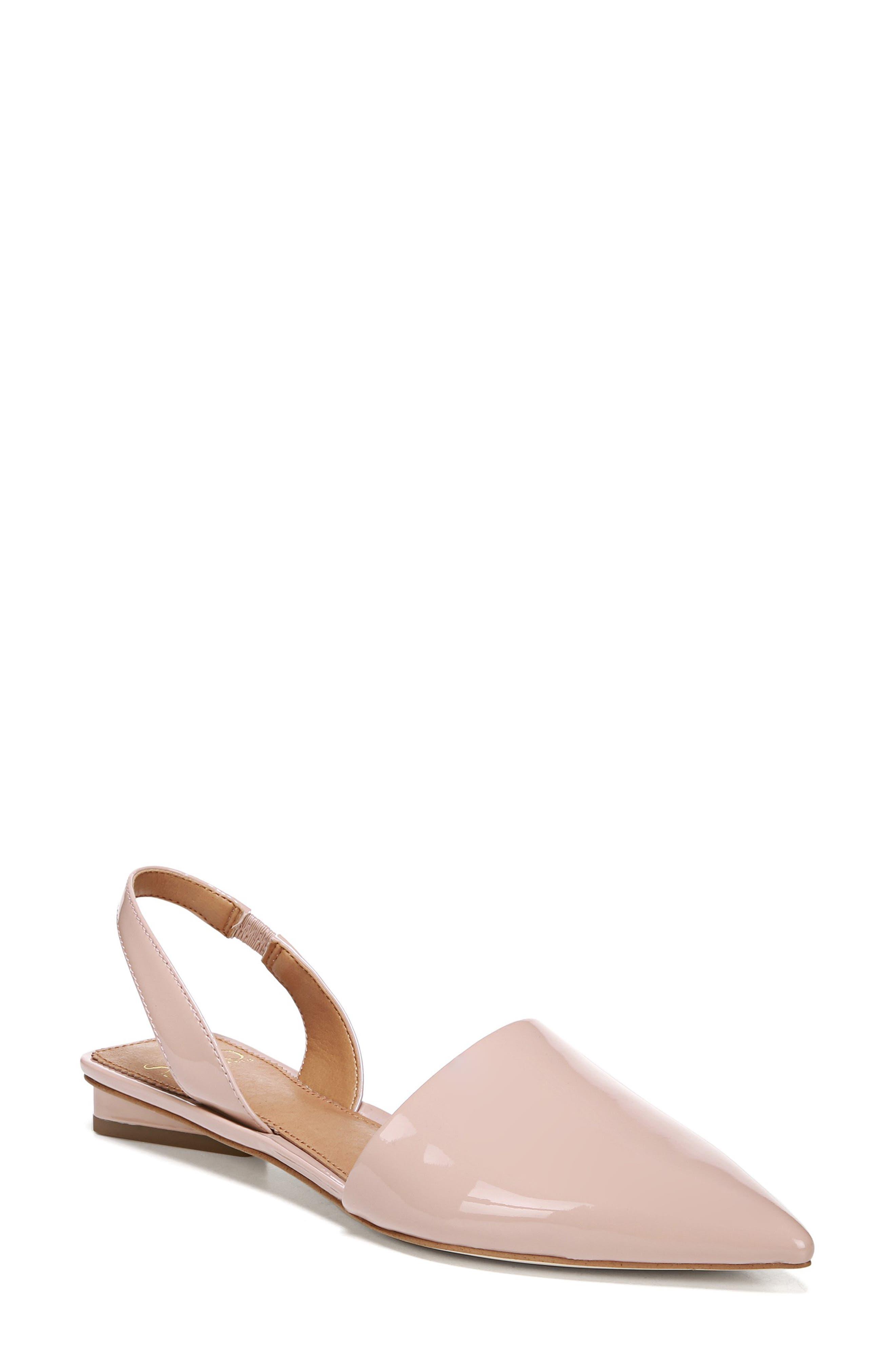 Sarto By Franco Sarto Graydon Pointy Toe Slingback Flat- Pink