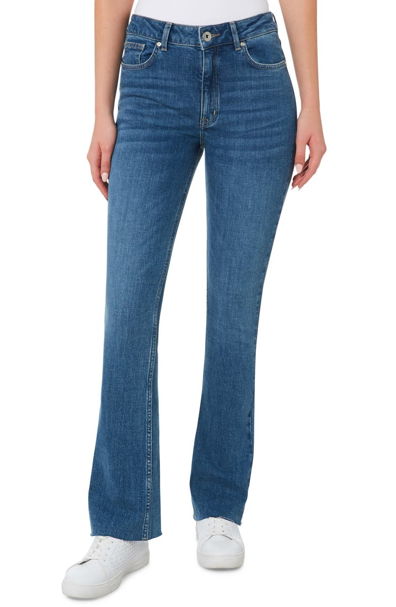 OUTLAND DENIM Stevie High Waist Flare Leg Jeans, Main, color, 421