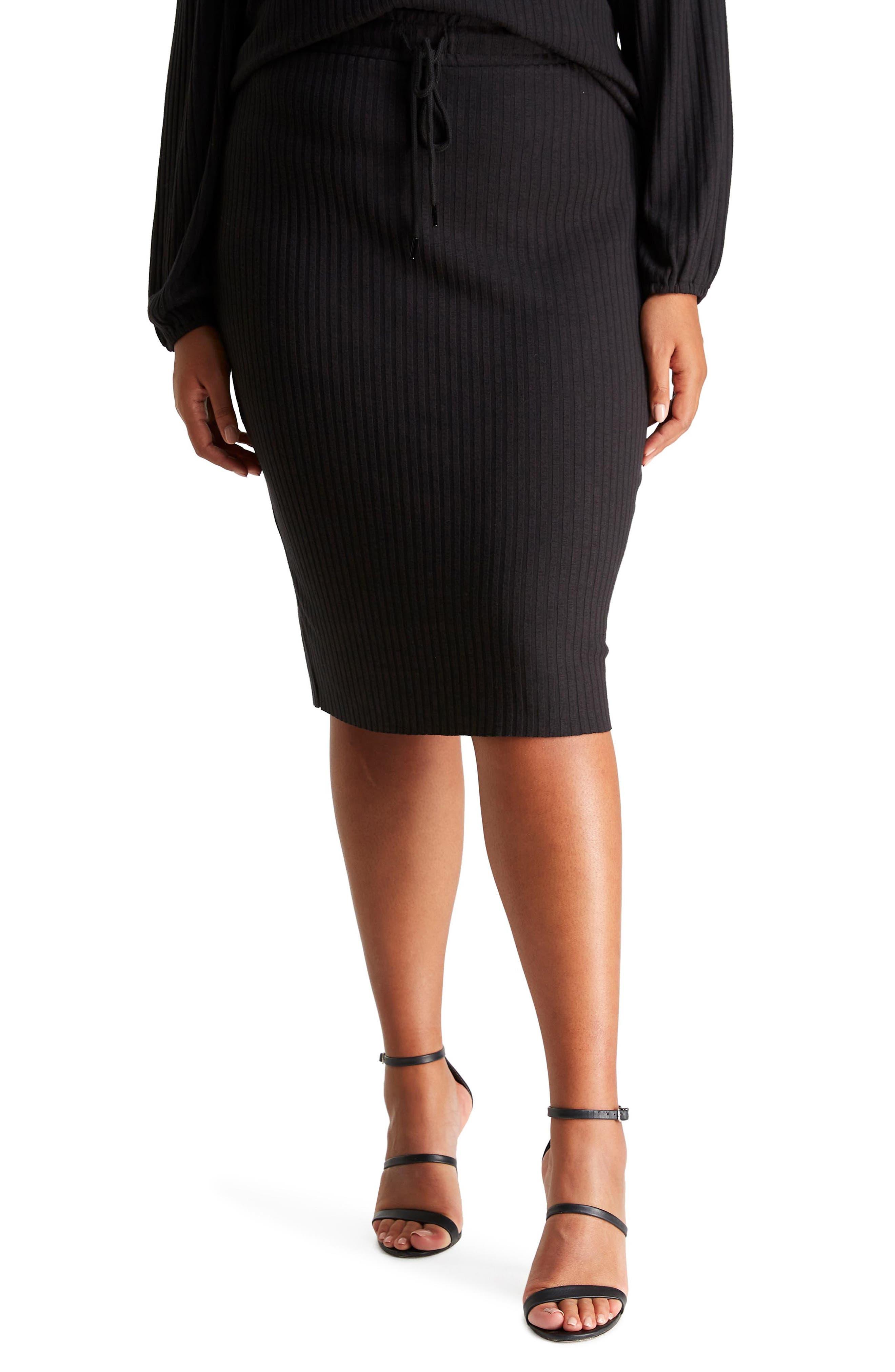 Hera Tie Waist Ribbed Skirt