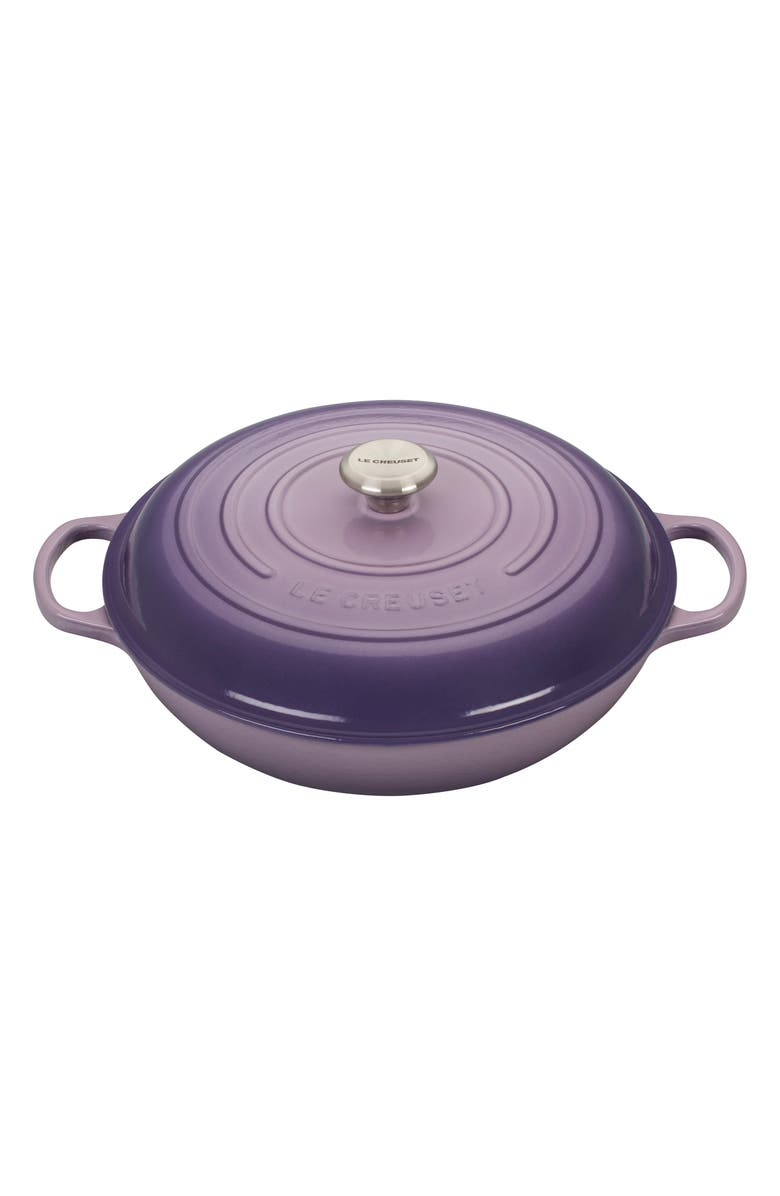 LE CREUSET Signature 5 Quart Enameled Cast Iron Braiser, Main, color, 505