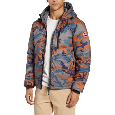 Canada Goose Lodge Slim Fit Packable 750 Fill Power Down Hooded Jacket, Blue