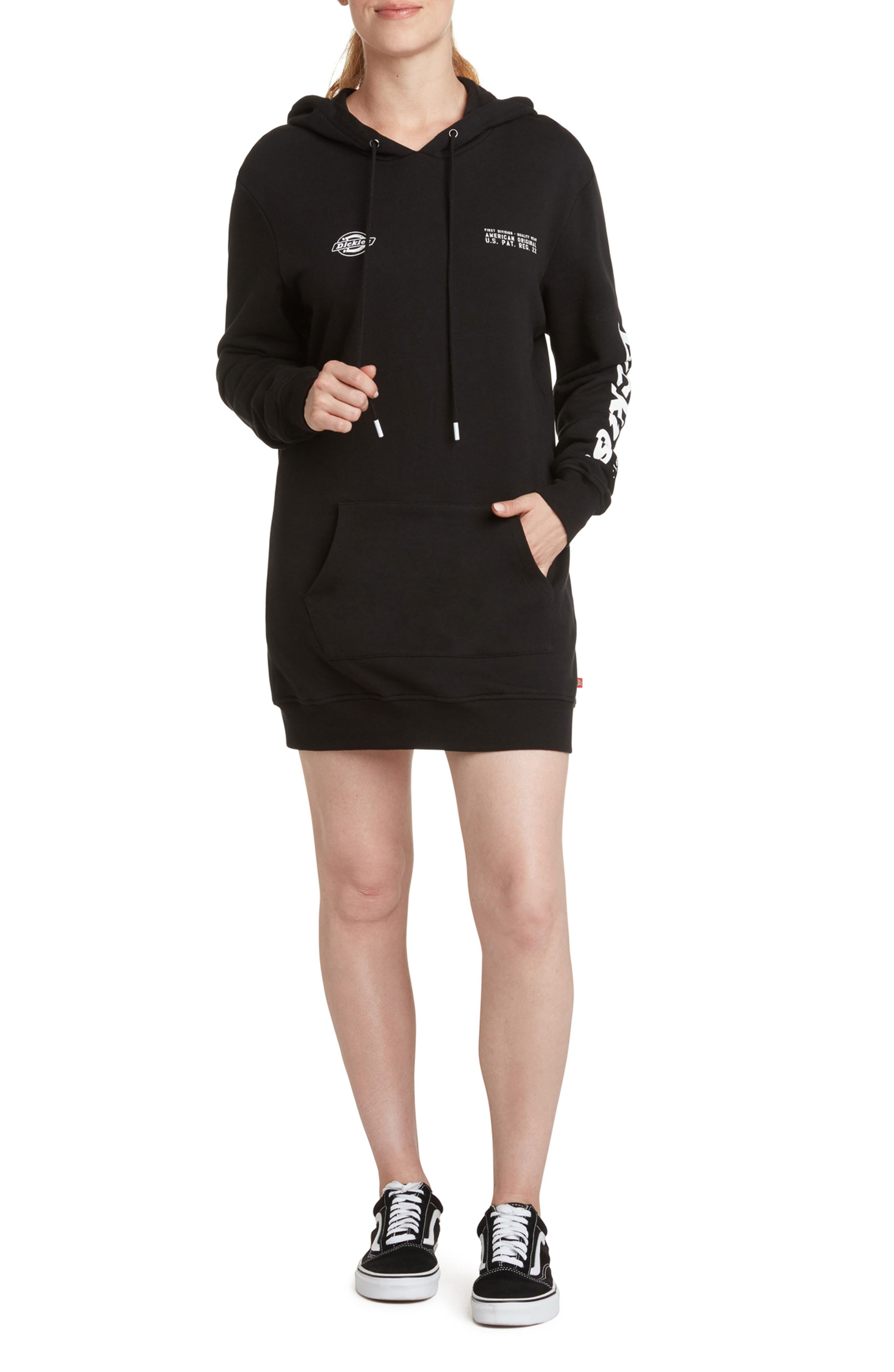 Long Sleeve French Terry Hoodie Dress