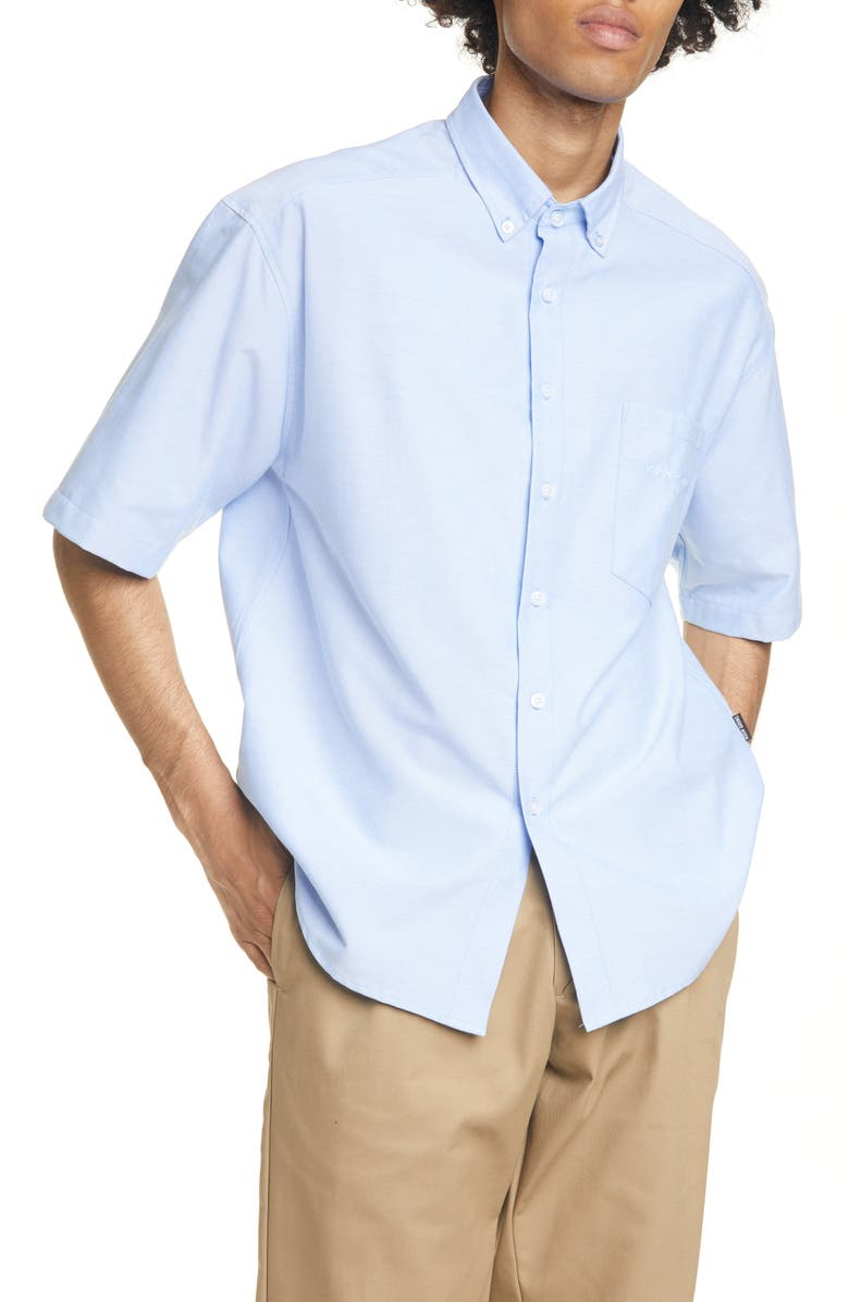 NOON GOONS The Simple Short Sleeve Button-Down Oxford Shirt, Main, color, LIGHT BLUE