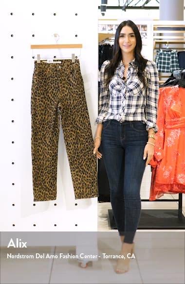 Ribcage Leopard Straight Leg Corduroy Pants, sales video thumbnail