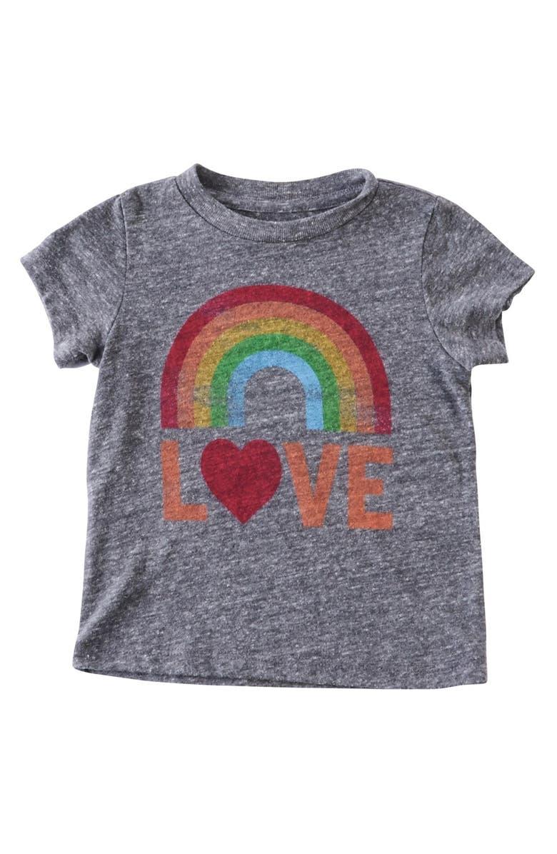 PEEK AREN'T YOU CURIOUS Peek 'Rainbow Love' Graphic Print Tee, Main, color, 021