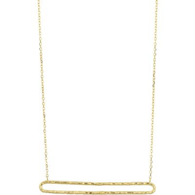 Bony Levy 14K Gold Textured Open Bar Necklace (Nordstrom Exclusive)