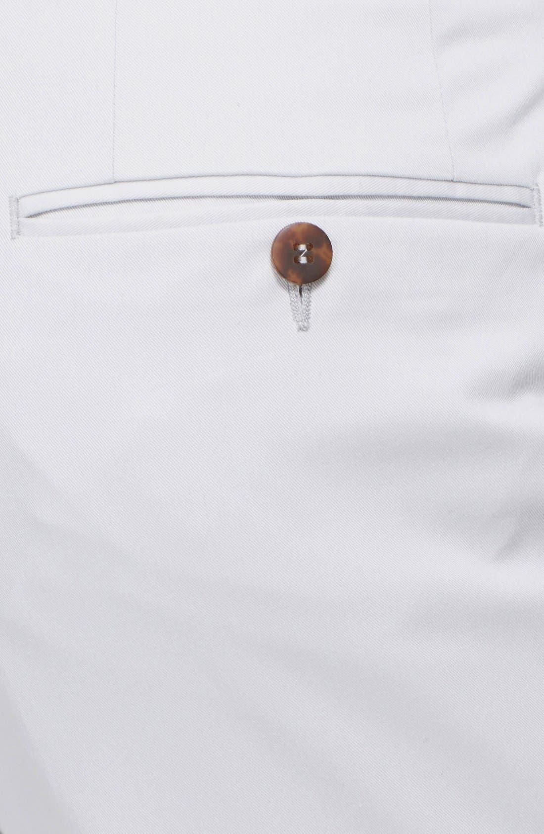 ,                             Flat Front Cotton Blend Trousers,                             Alternate thumbnail 3, color,                             020