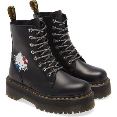 Dr. Martens X Hello Kitty Jadon Boot, US/ 4UK - Black