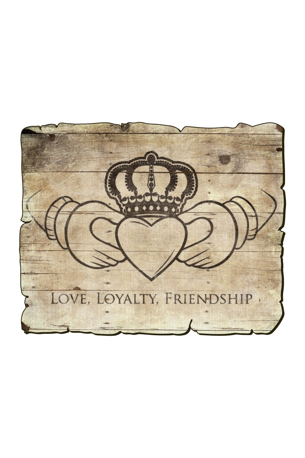"""Image of COURTSIDE MARKET Love, Loyalty, & Friendship 20"""" x 30"""" Gallery Art Decal"""
