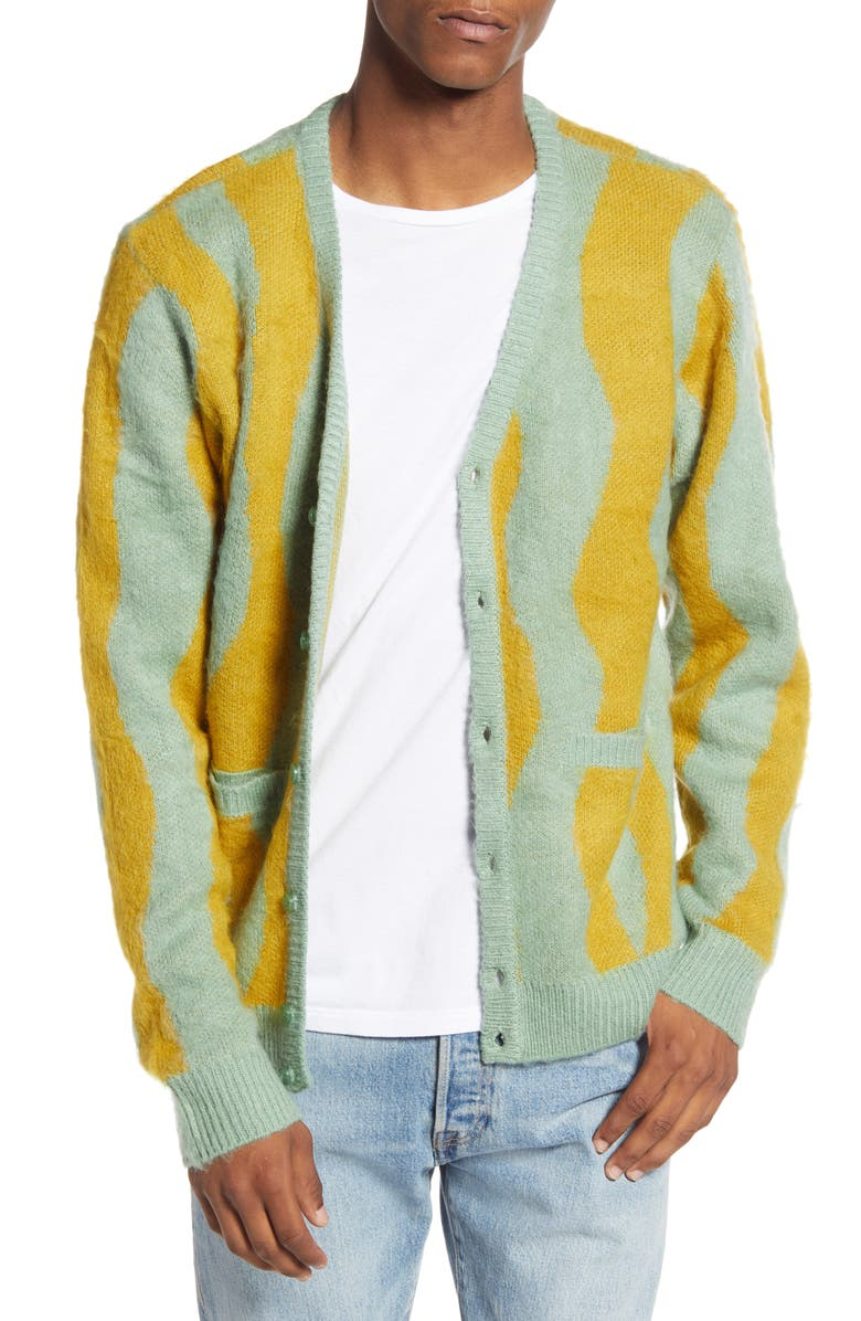 OBEY Seaweed Cardigan, Main, color, SAGE MULTI