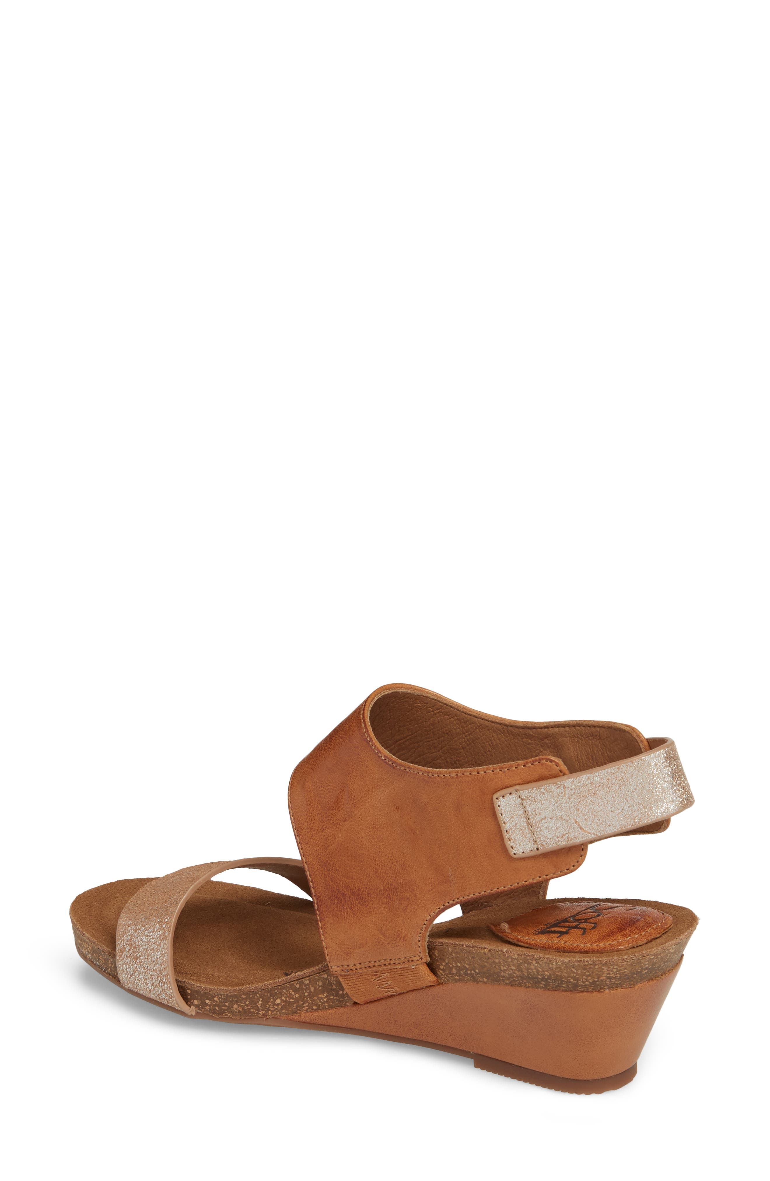 ,                             'Vanita' Leather Sandal,                             Alternate thumbnail 2, color,                             LUGGAGE/ SILVER LEATHER