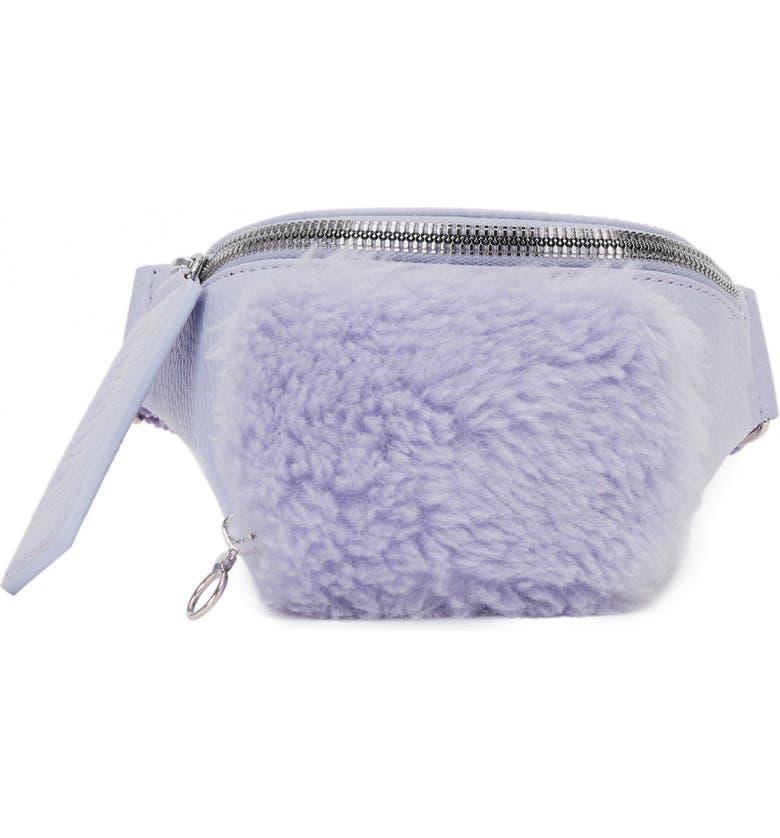 KARA Leather & Wool Bum Bag, Main, color, 500