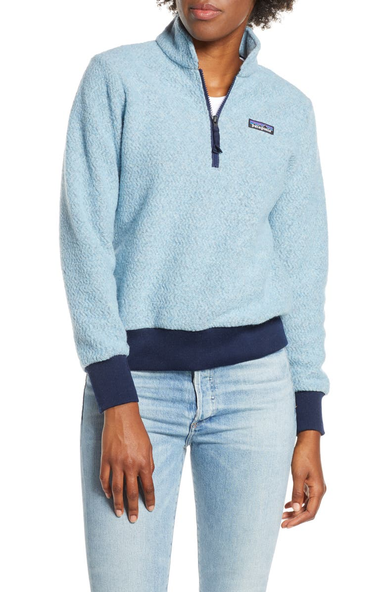 PATAGONIA Woolyester Fleece Quarter Zip Pullover, Main, color, 401