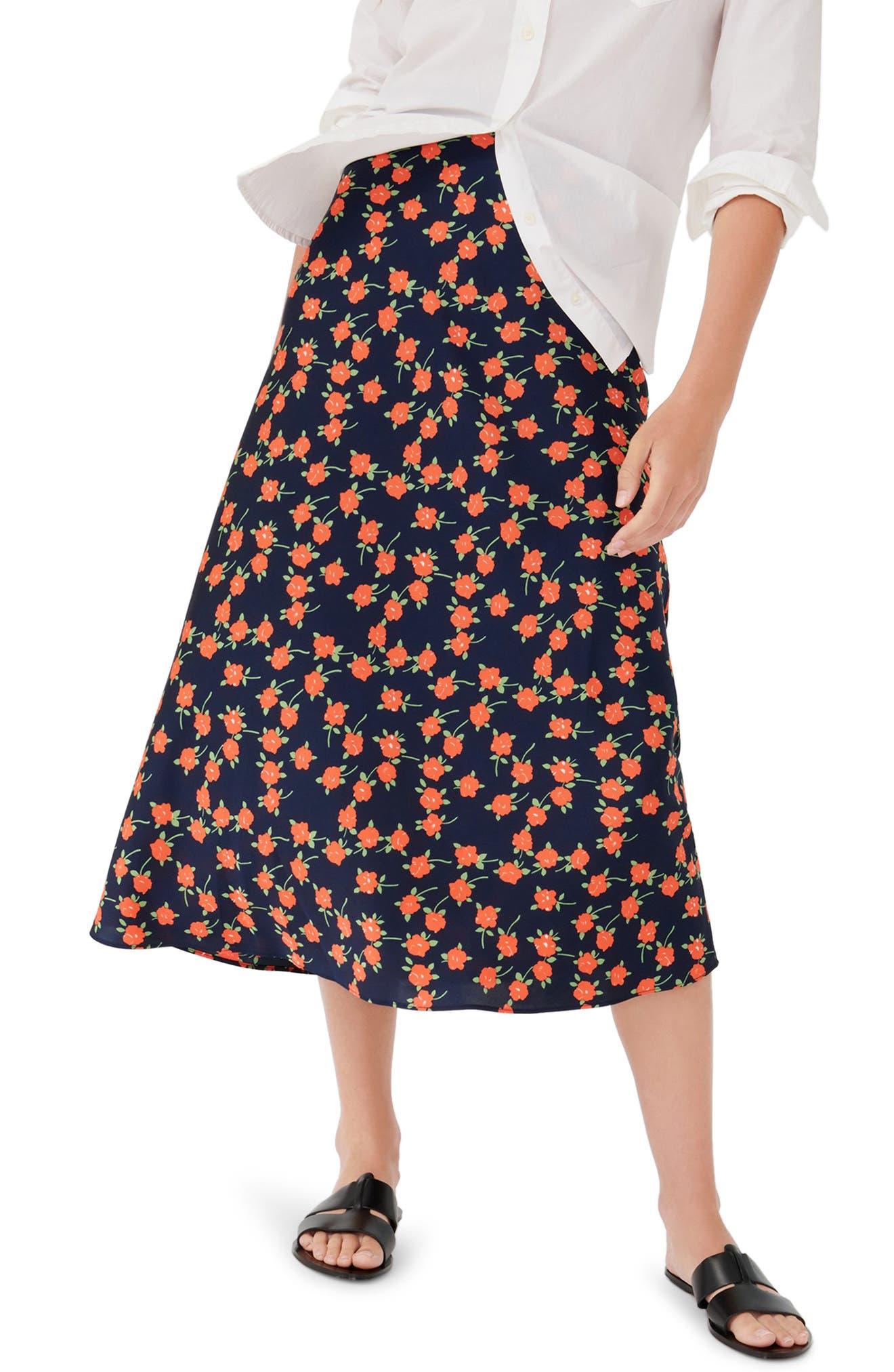 J.Crew Poppy Fields Pull-On Slip Skirt   Nordstrom