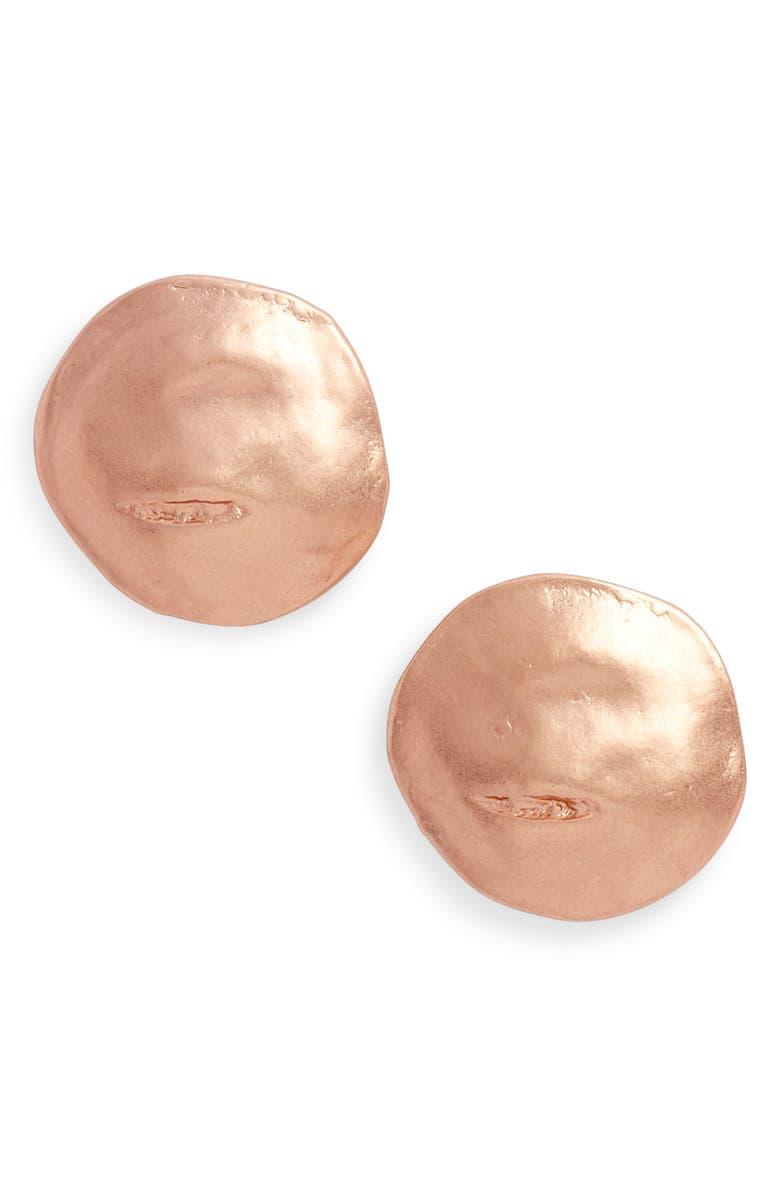 KARINE SULTAN Stud Earrings, Main, color, ROSE GOLD