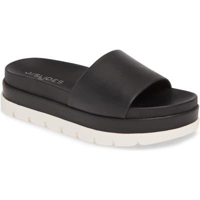 Jslides Bibi Platform Sandal- Black