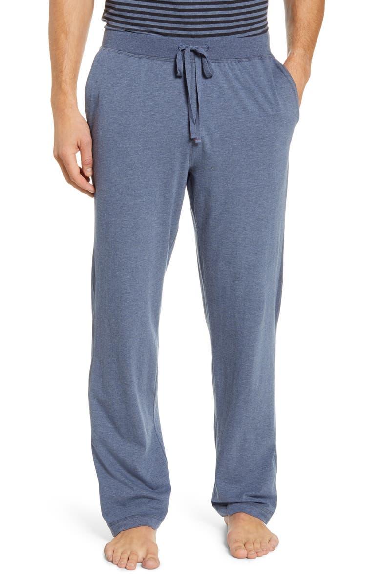 DANIEL BUCHLER Stretch Cotton & Modal Pajama Pants, Main, color, NAVY
