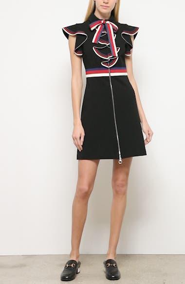 Sylvie Web Ruffle Stretch Jersey Dress, video thumbnail