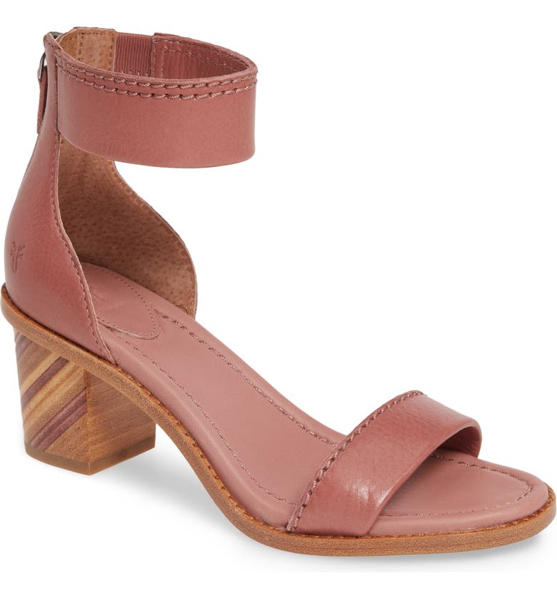 FRYE Brielle Bias Stripe Heel Sandal, Main, color, MAUVE