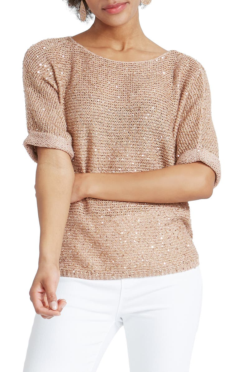 NIC+ZOE Stargazing Sweater, Main, color, SOFT COPPER