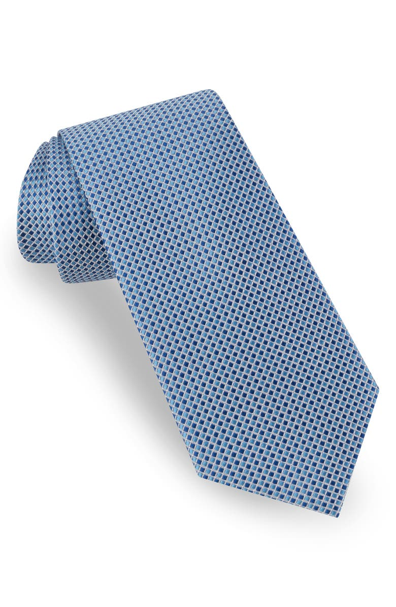 TED BAKER LONDON Tonal Microcheck Silk Tie, Main, color, NAVY