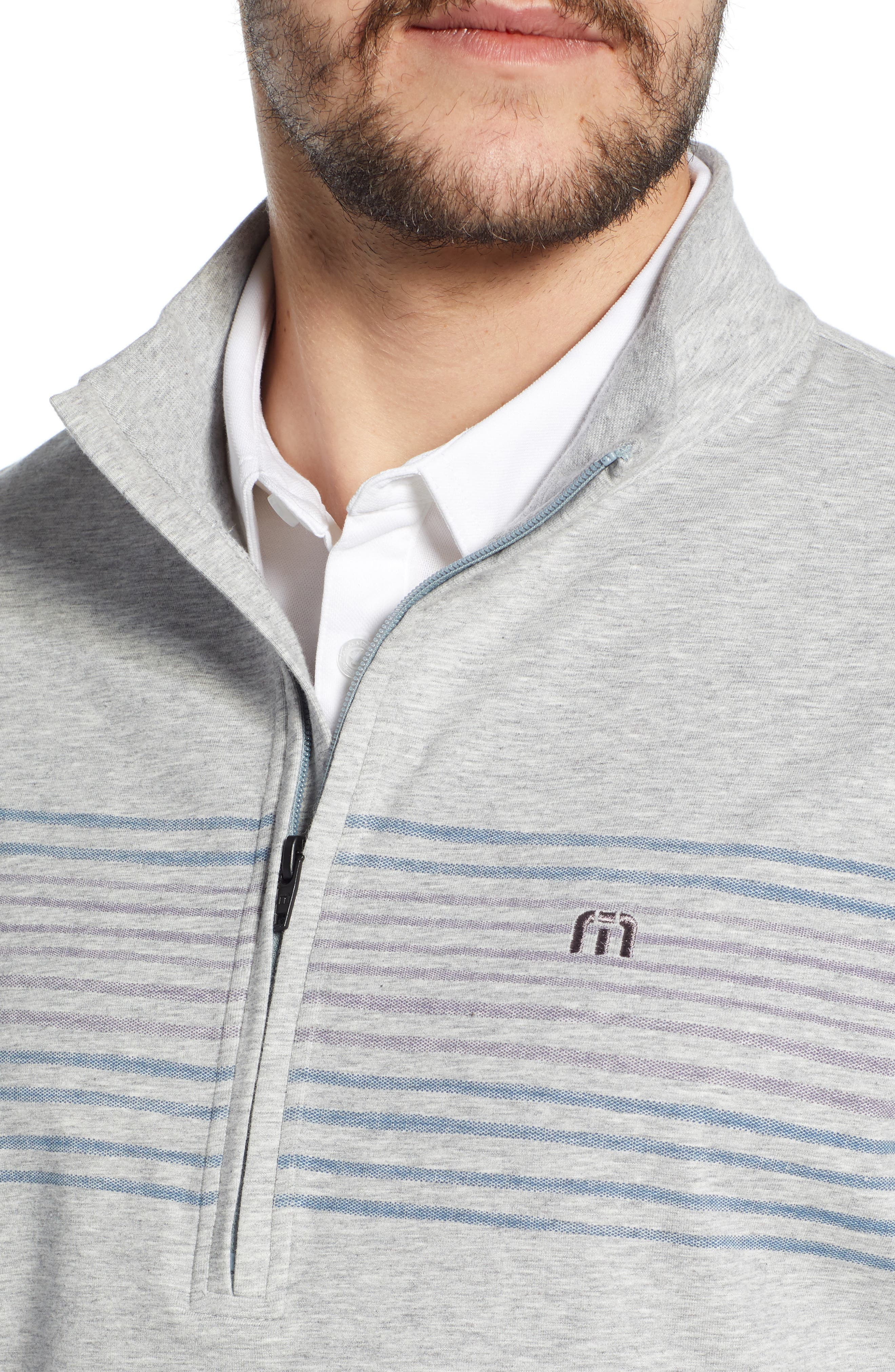 ,                             Play Through Regular Fit Half Zip Pullover,                             Alternate thumbnail 4, color,                             HEATHER ALLOY
