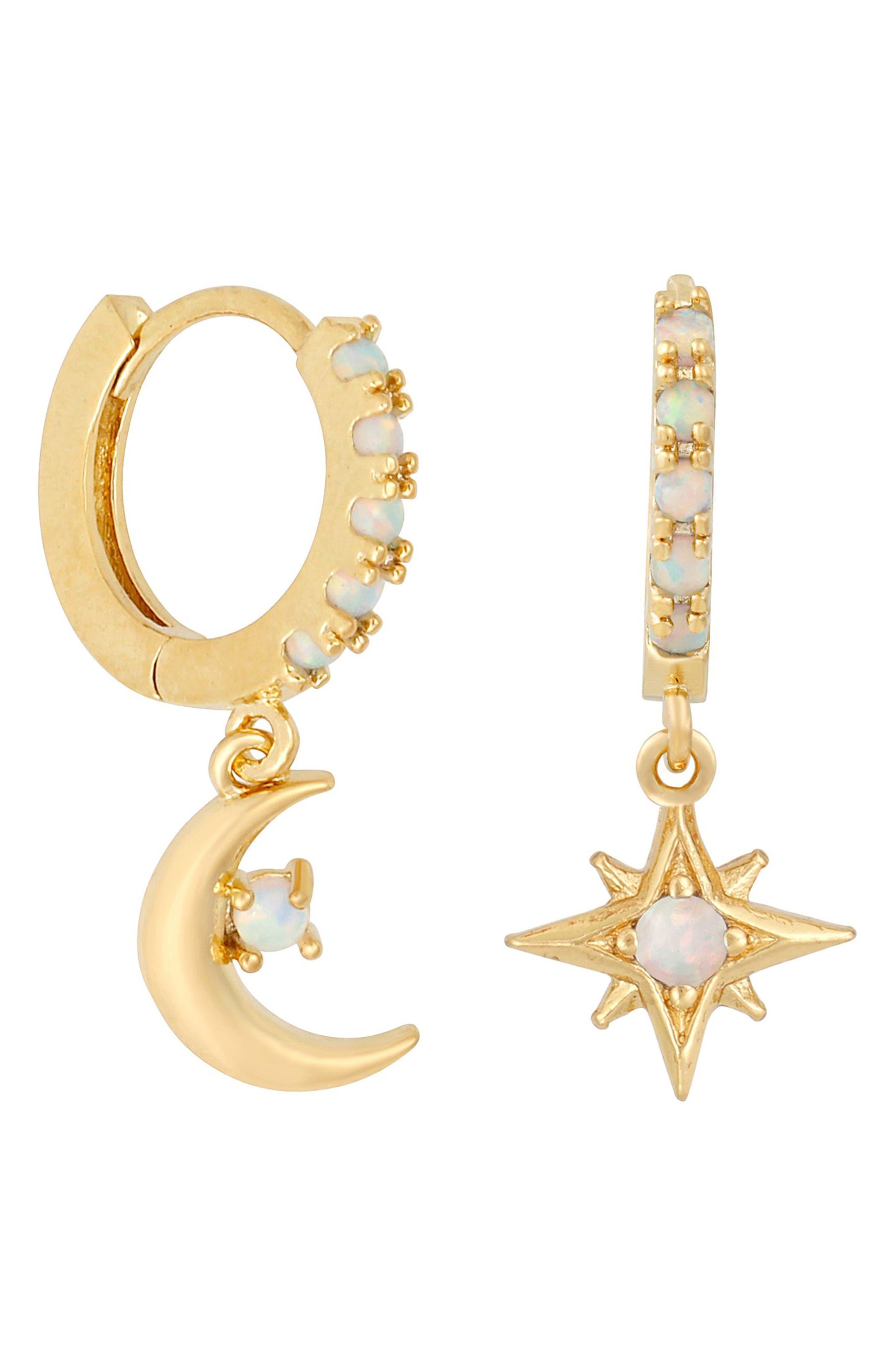 Starry Night Mismatched Hoop Earrings