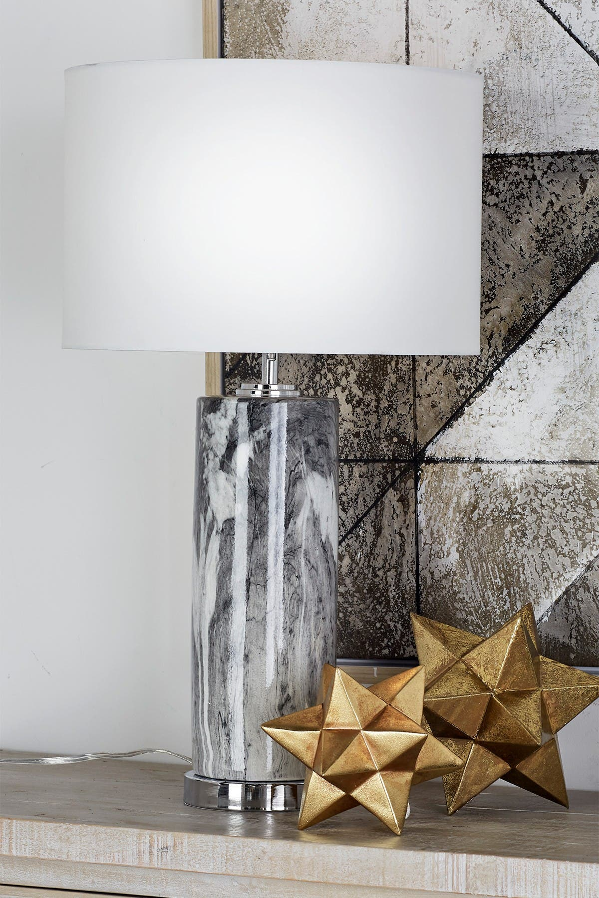 Image of CosmoLiving by Cosmopolitan Multi Marble Table Lamp