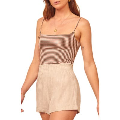 Reformation Carrie Camisole, Brown