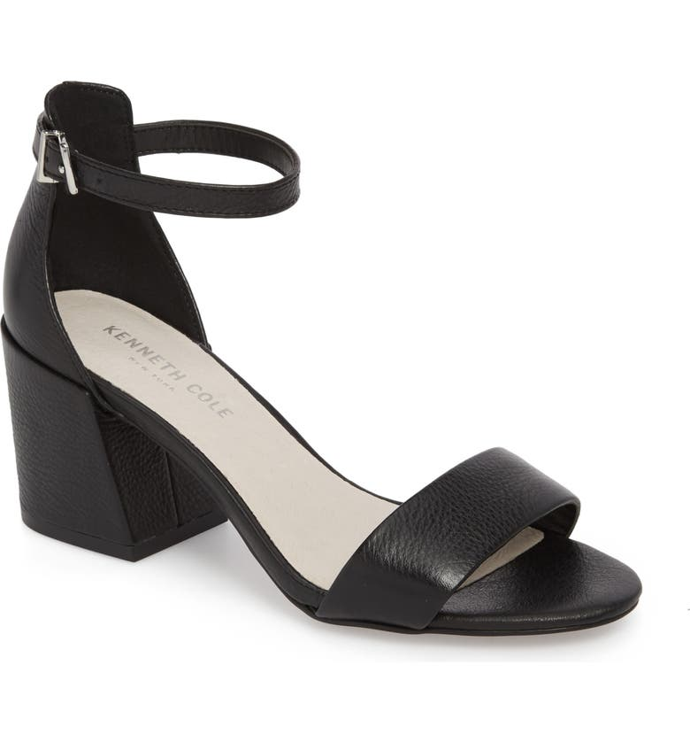 KENNETH COLE NEW YORK Hannon Block Heel Ankle Strap Sandal, Main, color, 001