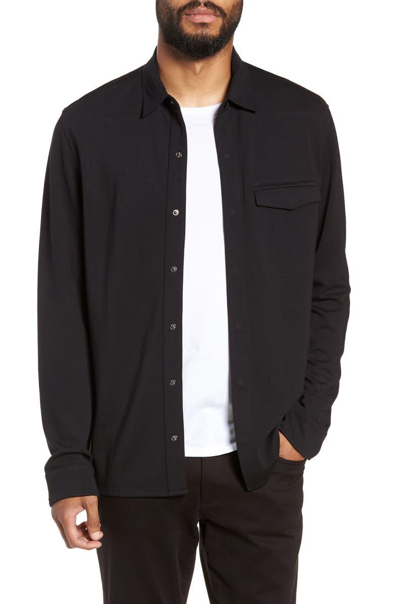 CALIBRATE Snap Shirt Jacket, Main, color, 001