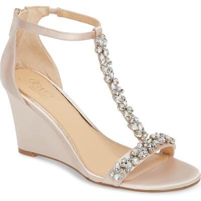 Jewel Badgley Mischka Meryl Wedge Sandal, Metallic