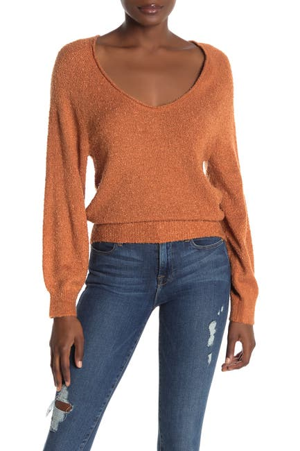 Image of Abound V-Neck Boucle Knit Sweater