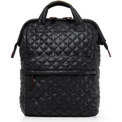 Mz Wallace Top Handle Backpack - Black
