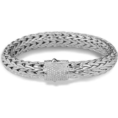 John Hardy Classic Chain Bracelet With Pave Diamonds