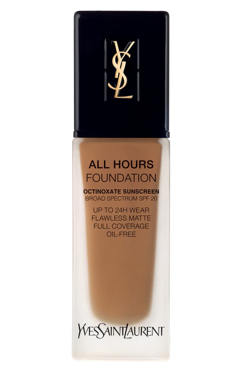 YVES SAINT LAURENT All Hours Full Coverage Matte Foundation SPF 20, Main, color, B80 CHOCOLATE